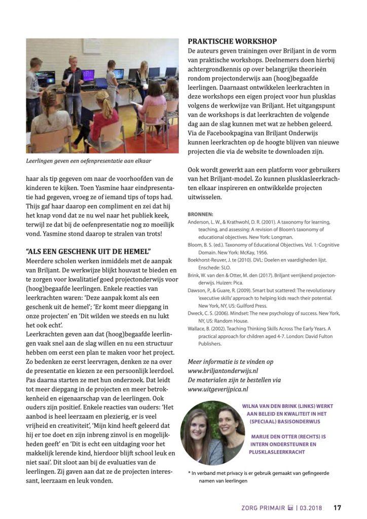 Artikel Zorg Primar Briljant Verrijkend Projectonderwijs4