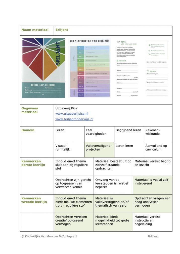 Recensie DHH Briljant Verrijkend Projectonderwijs1
