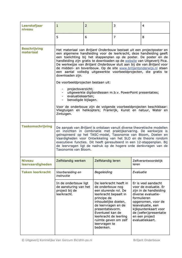 Recensie DHH Briljant Verrijkend Projectonderwijs2