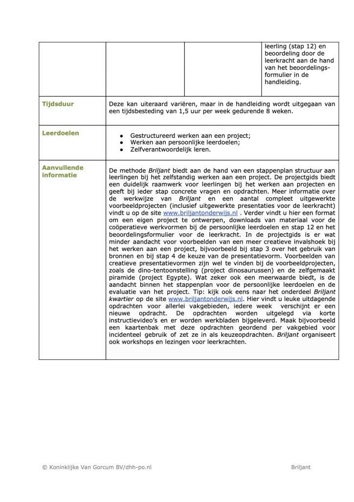 Recensie DHH Briljant Verrijkend Projectonderwijs3